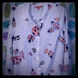 Modcloth Ladybug blouse M